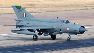 Another Indian Air Force (IAF) fighter plane Mig-21 crashed in Rajastan (india)