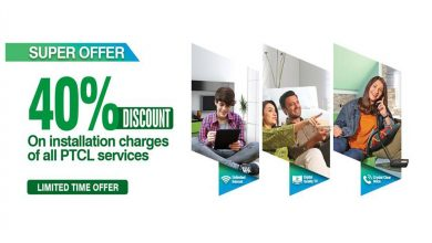 PTCL 40 percent discount installation charges new connections