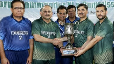 Corps Commander against Commissioner T20 match