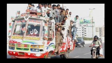 time transport mafia karachi bus fare by 50pc 100 pc