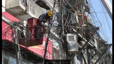 K electric KE removed unauthorized cable TV Internet wires