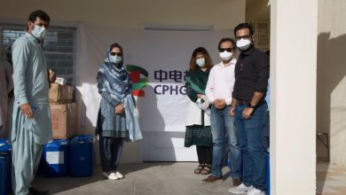 CPHGC donated spray disinfectant masks